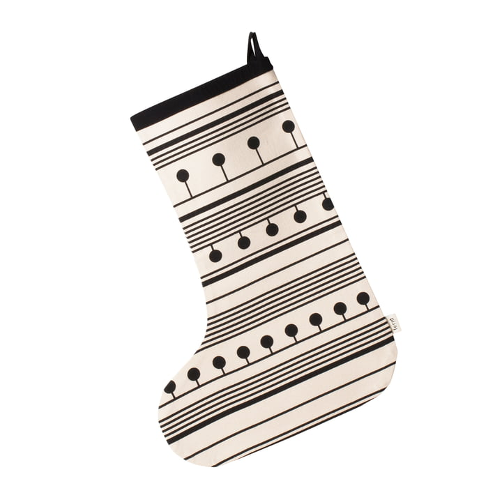Winterland Christmas Stocking by ferm Living in Black