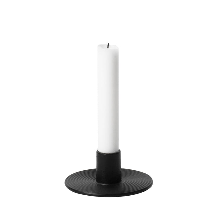 Cast Iron Candle Holder by ferm Living in Black