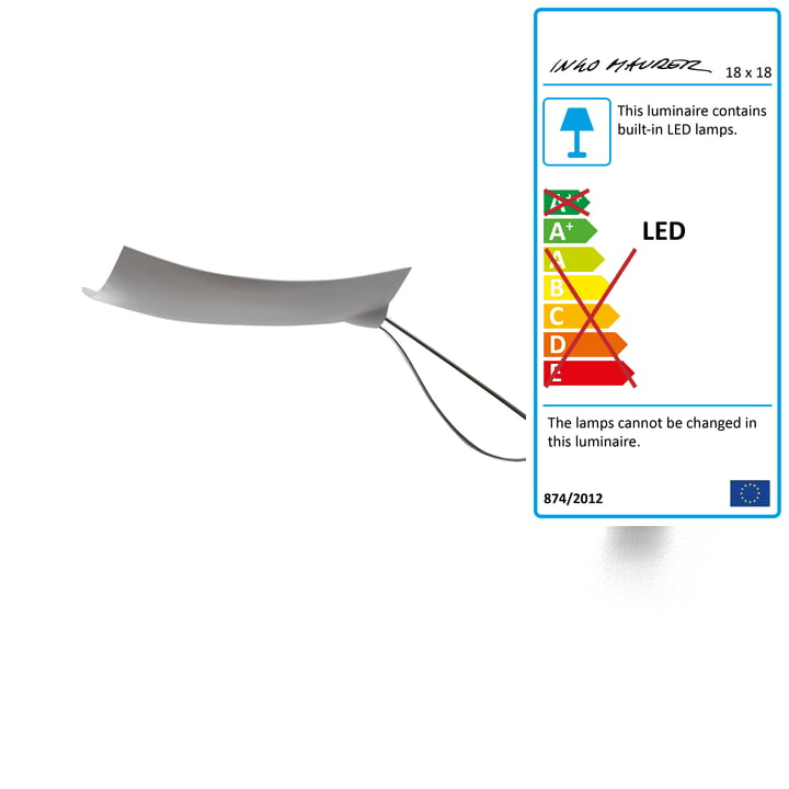 The Ingo Maurer - 18 x 18 Wall lamp