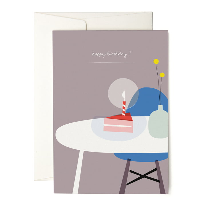 The pleased to meet - A Piece of Cake Greeting Card