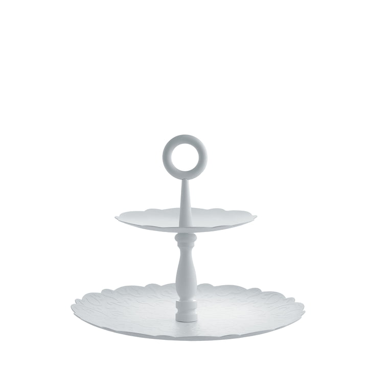 Dressed for X-Mas cake stand with 2 tiers by Alessi in white