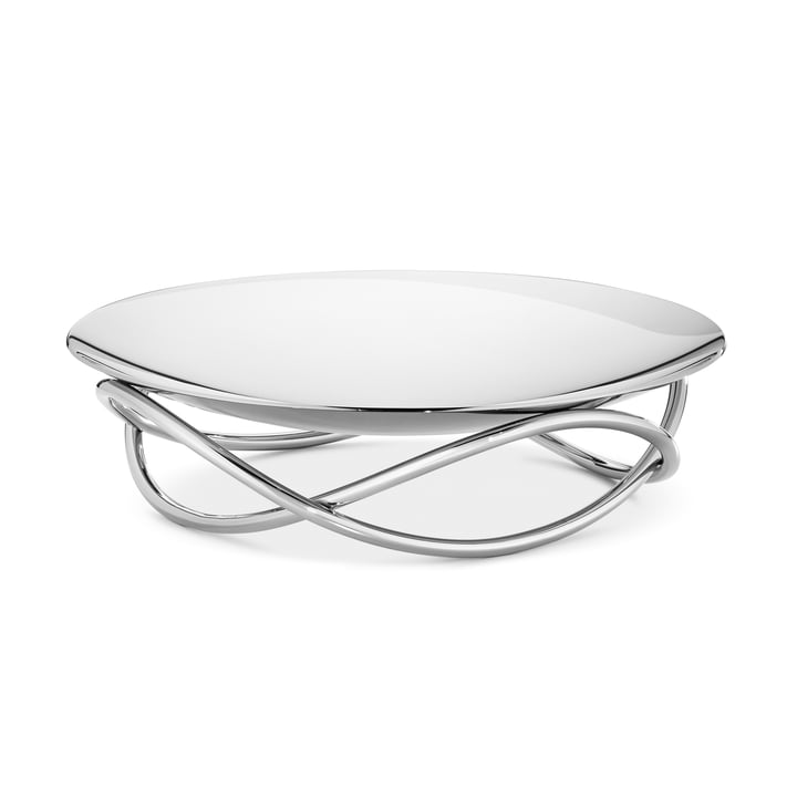 Glow Bowl Large by Georg Jensen in shiny stainless steel