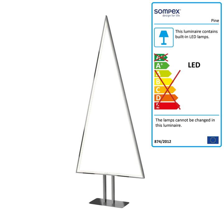 Led Tannenbaum.Sompex Pine Led Table Lamp Aluminium Large