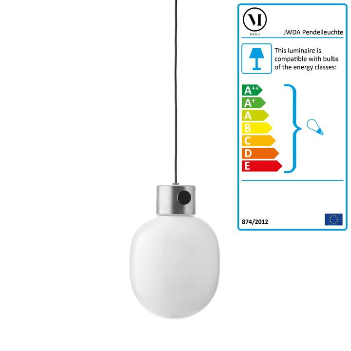 JWDA Pendant Lamp by Menu in brushed Steel