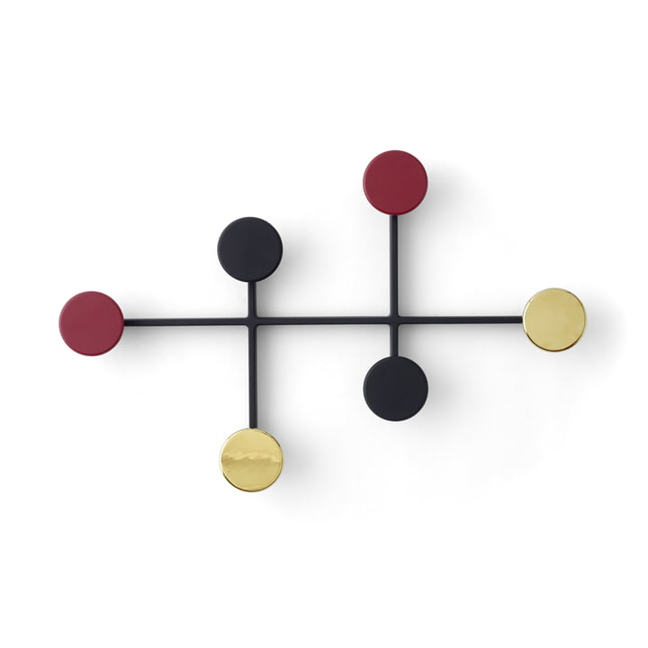 Menu - Afteroom Coat Hanger, black / brass