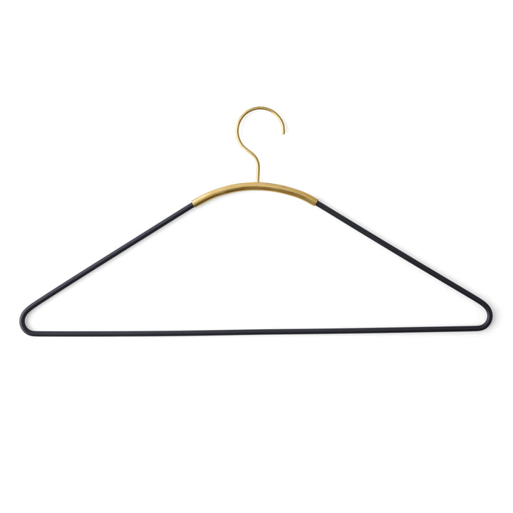 Ava Coat Hanger by Menu in Black / Brass