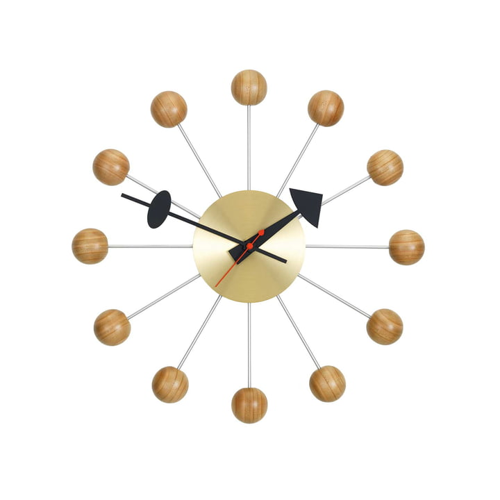 Ball Clock by Vitra made of Cherry Wood