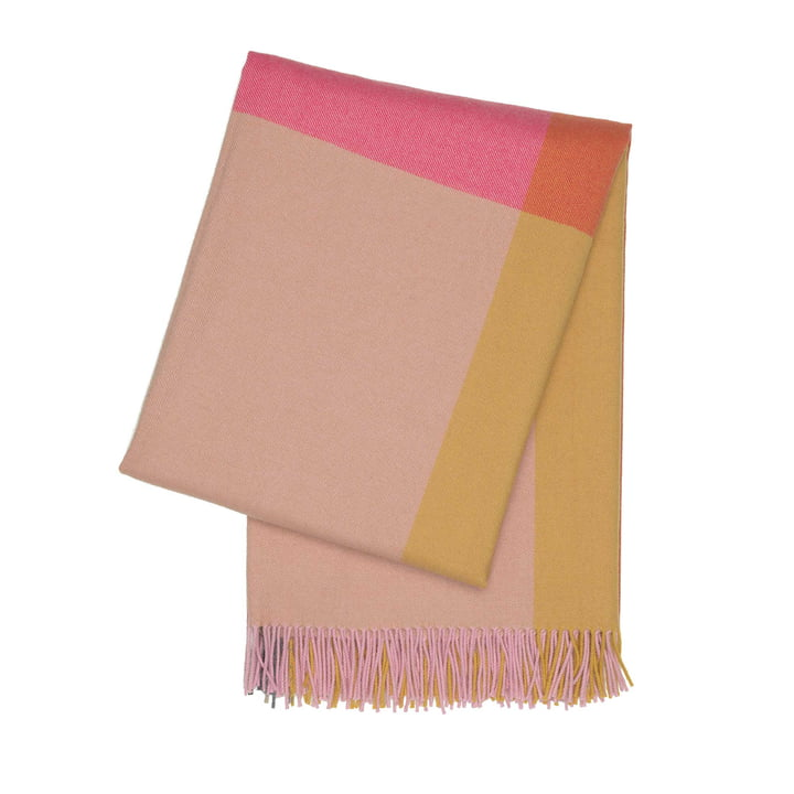 Colour Block Blanket by Vitra in Pink and Beige