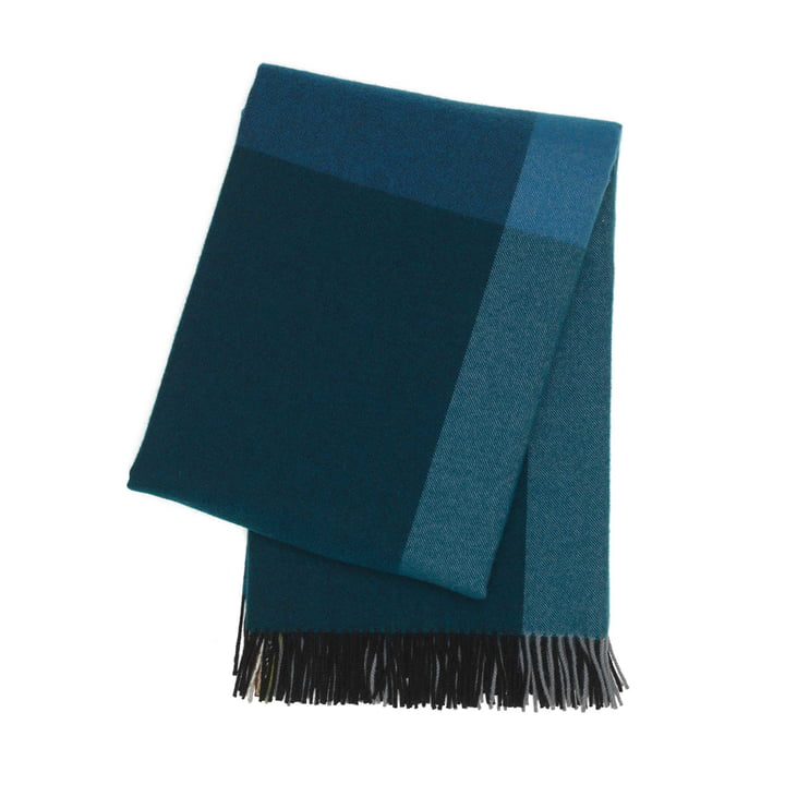 Colour Block Blanket by Vitra in Black and Blue