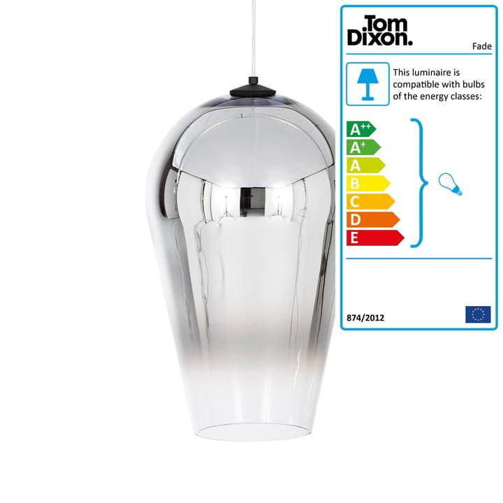 The Tom Dixon - FadePendant Lamp in Chrome