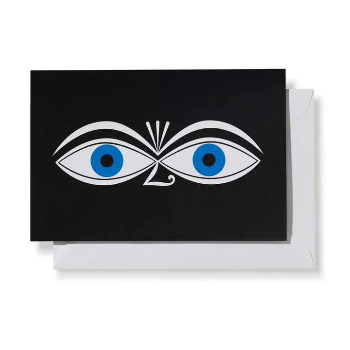 Greeting Cards Eyes Blue by Vitra