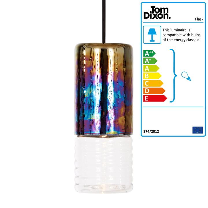 The Tom Dixon - Flask Pendant Lamp, Oil Long