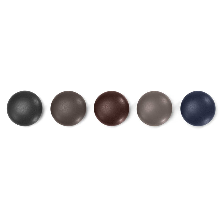 Set of 5 magnetic Dots by Vitra in Dark Shades