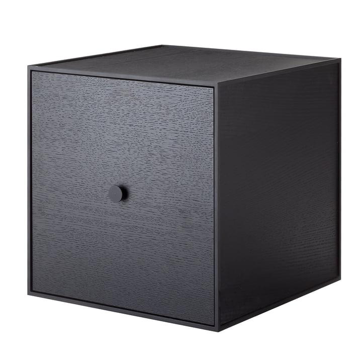 Frame wall cabinet 35 (incl. door) by Lassen in ash black