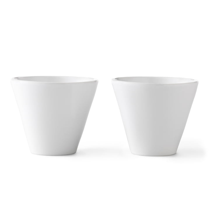 Norli cups (2 pcs.) large from by Lassen in White