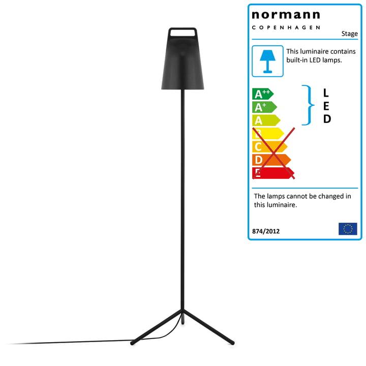 Stage Floor Lamp by Normann Copenhagen in Black