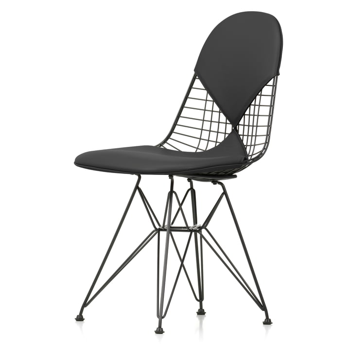Wire Chair DKR-2 (new height) from Vitra in Premium Leather