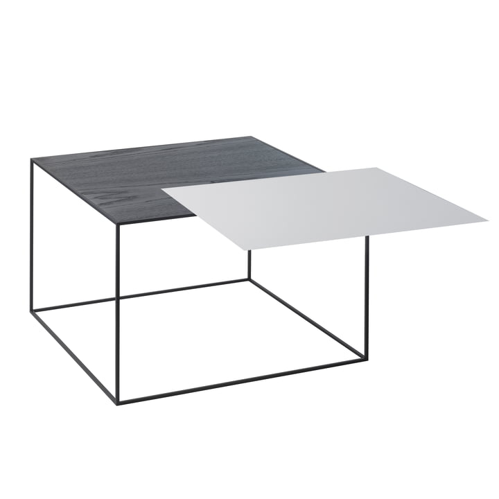 by Lassen - Twin 49 Side Table, black ash/cool grey
