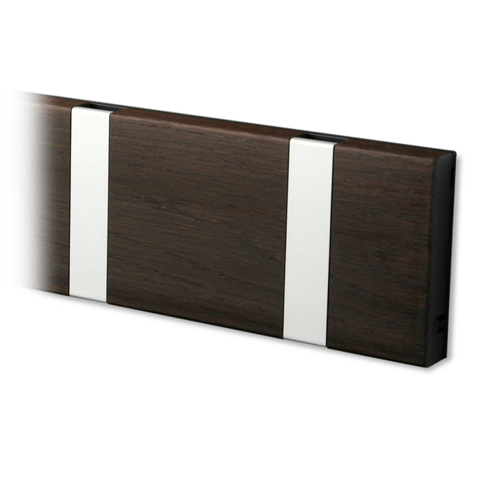 Knax coat rack from LoCa in oak tabac oiled / grey