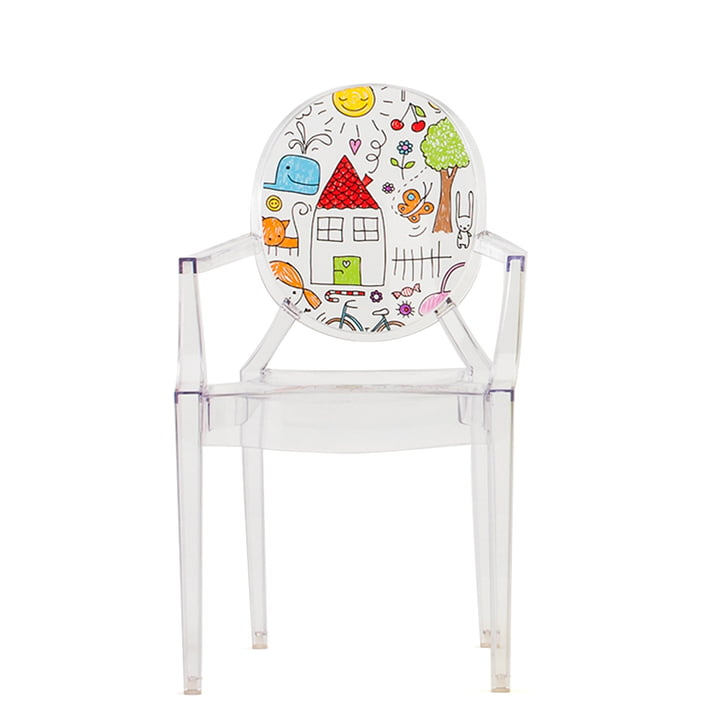 Lou Lou Ghost Children's Chair by Kartell in Transparent / Sketch