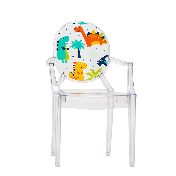 Lou Lou Ghost Children's Chair by Kartell in Transparent / Dinosaur