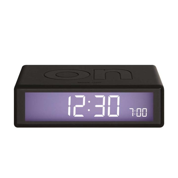Lexon - Flip LCD Alarm Clock, black