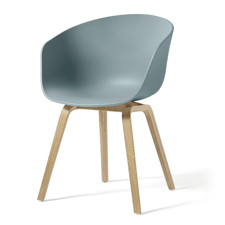 About A Chair AAC 22 from Hay in oak soaped / dusty blue