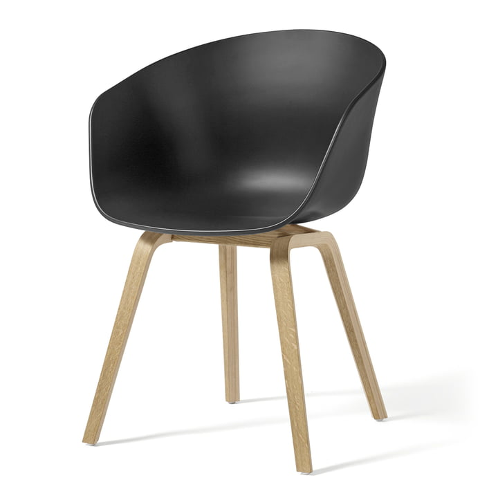 About A Chair AAC 22 from Hay in oak soaped / soft black