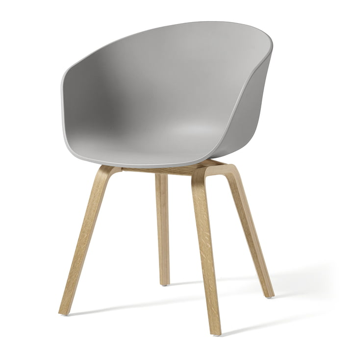 About A Chair AAC 22 from Hay in oak soaped / concrete grey