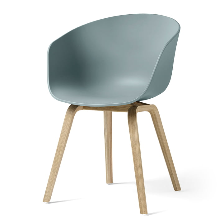 About A Chair AAC 22 by Hay in matt lacquered oak / dusty blue