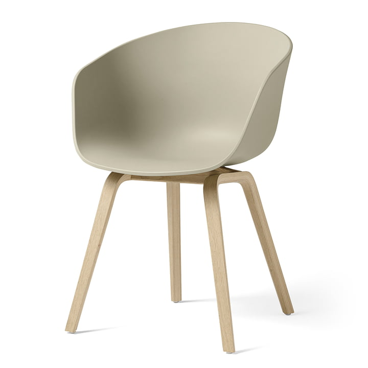 About A Chair AAC 22 from Hay in oak matt lacquered / pastel green