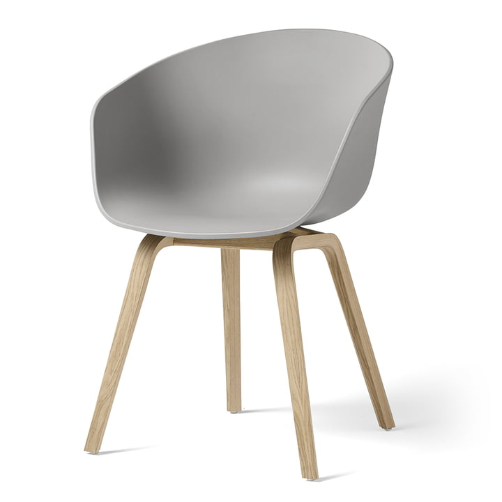 About A Chair AAC 22 from Hay in oak matt lacquered / concrete grey