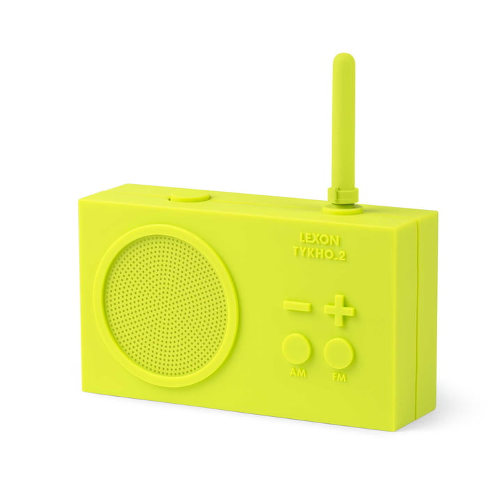 Tykho 2 Radio by Lexon in Lime Green