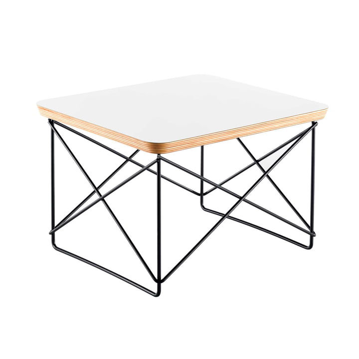 Eames Occasional Table LTR from Vitra in HPL white / basic dark