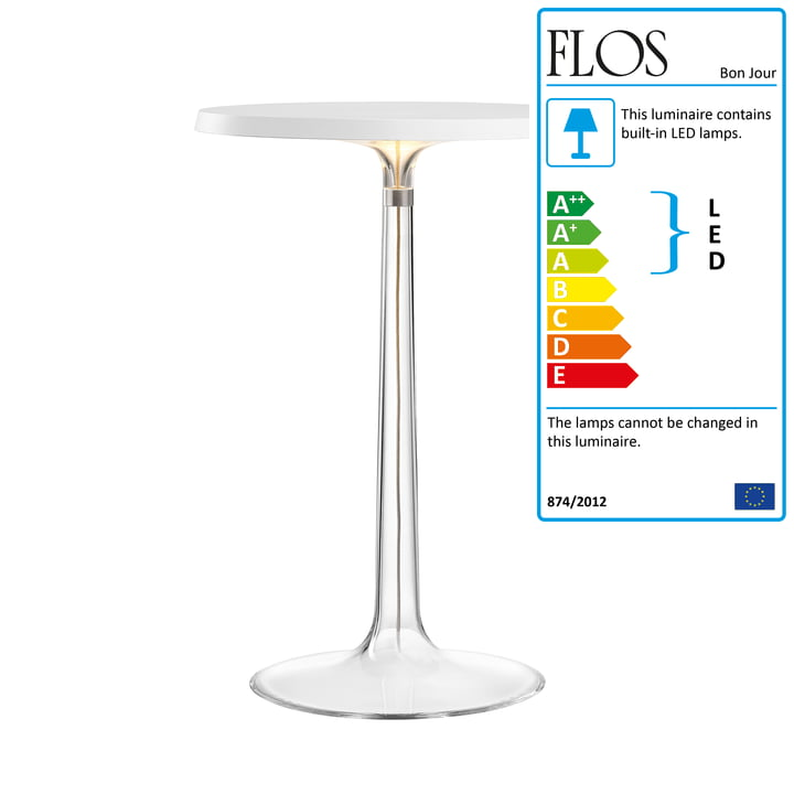 Flos - Bon Jour Table Lamp, white