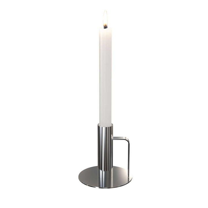 The candle holder from Frost , ø 100 x 100, polished stainless steel