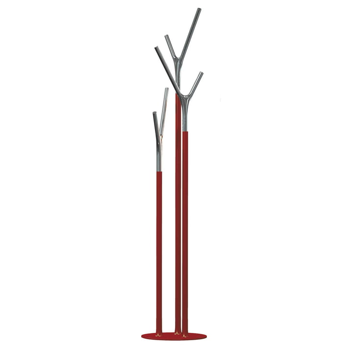 Frost - Wishbone Coat Stand, red / polished