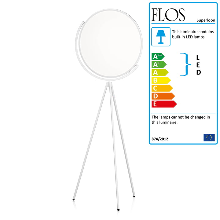 The Flos - Superloon Standard Lamp in white