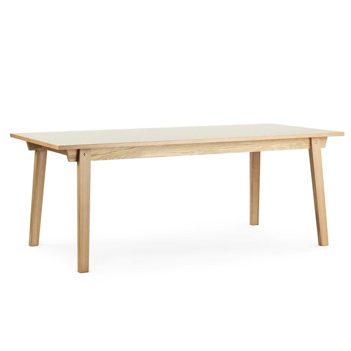 Slice Table Linoleum 90 x 200 cm by Normann Copenhagen in Cream