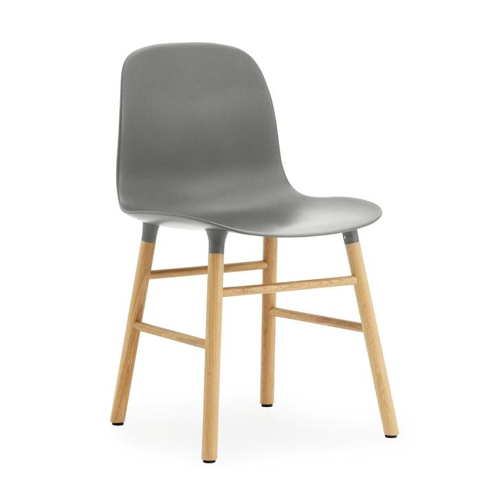 Normann Copenhagen - Form Chair, Wood Legs, oak / grey