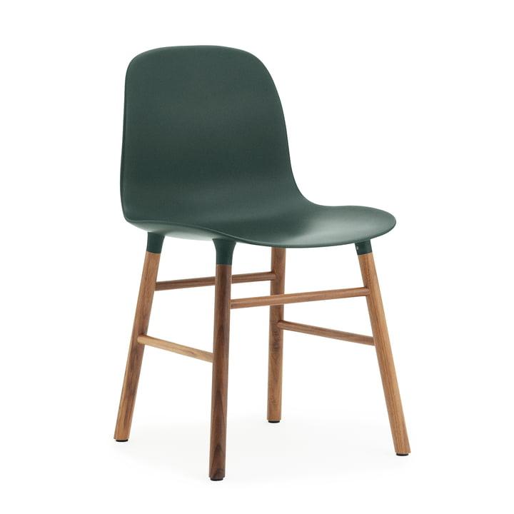 Normann Copenhagen - Form Chair, Wood Legs, walnut / green