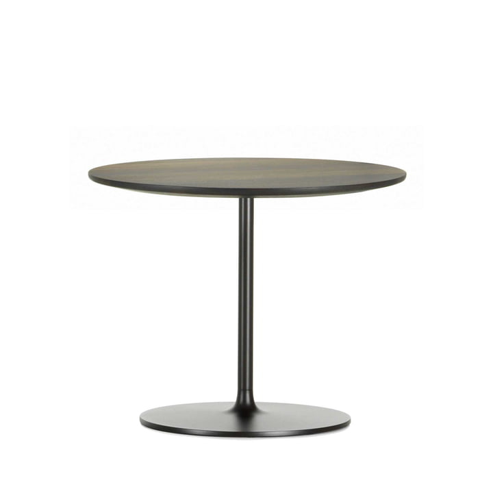 Occasional Low Table 35 by Vitra made of aluminium and metal in chocolate