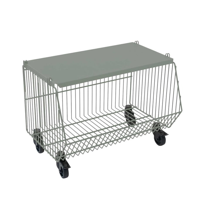 Pension für Produkte - Home Wire Basket set of 1, cement grey