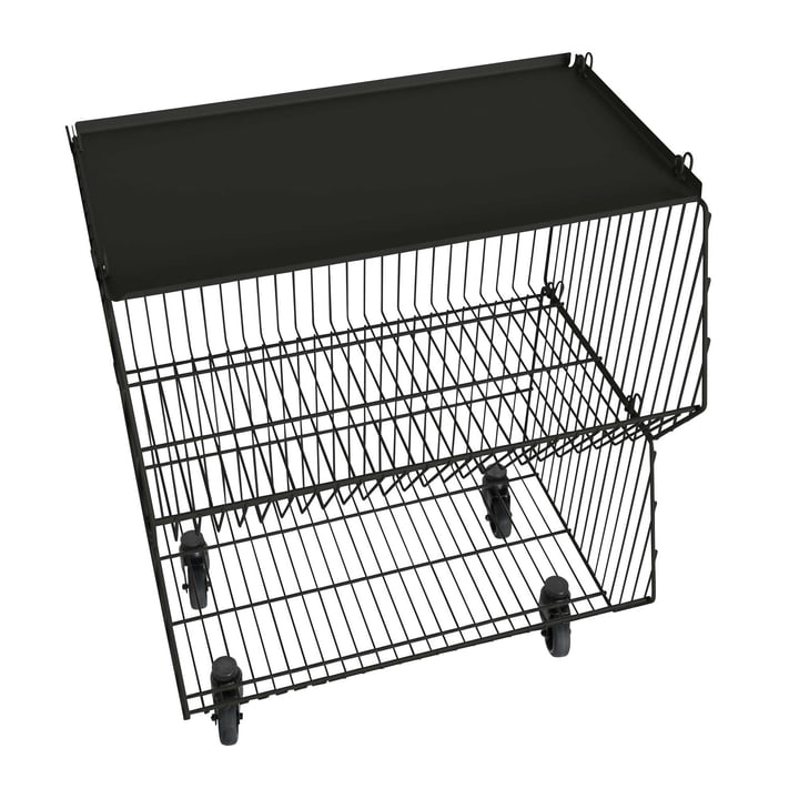 Pension für Produkte - Home Wire Basket set of 1, black