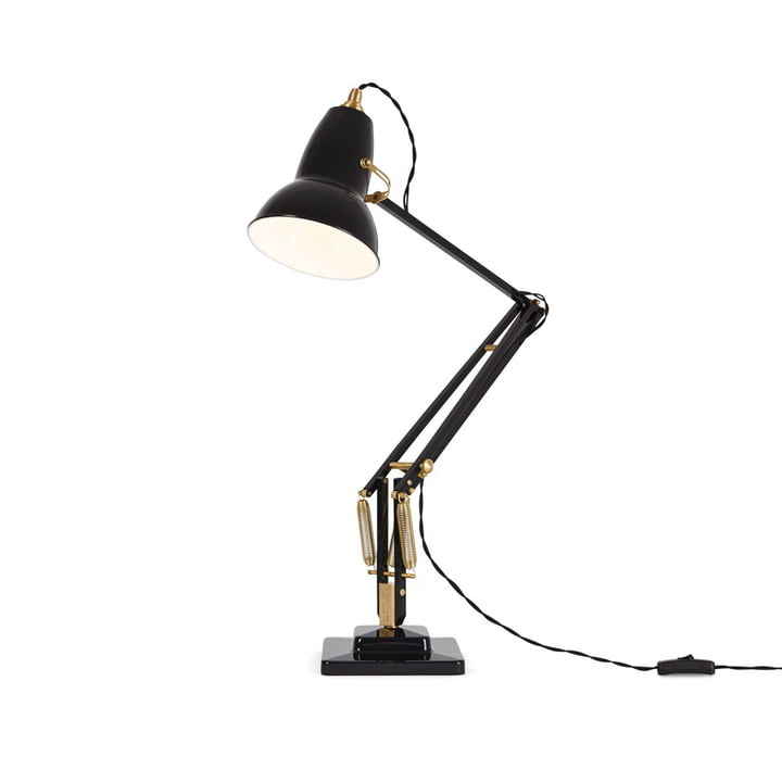Original 1227 Brass Desk Lamp by Anglepoise in Deep Slate