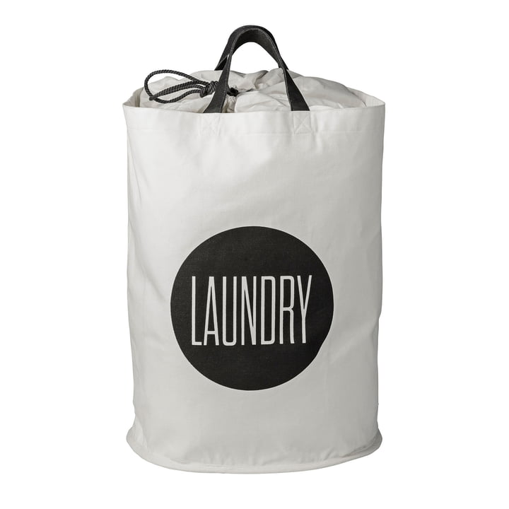 Laundry Bag Laundry by Bloomingville in black and white