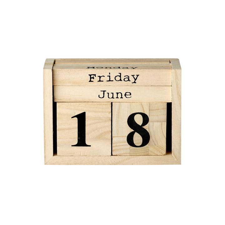 The Bloomingville - Table Calendar in Natural / Black