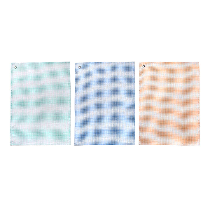 Bloomingville - Kitchen towels (set of 3), multicoloured
