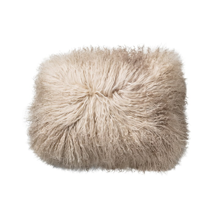 Bloomingville - Lambskin Cushion in sand