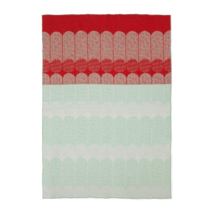 Normann Copenhagen - Ekko woollen blanket Raspberry / Mint